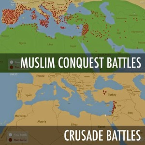 Muslim-conquest-v-Crusade-battles