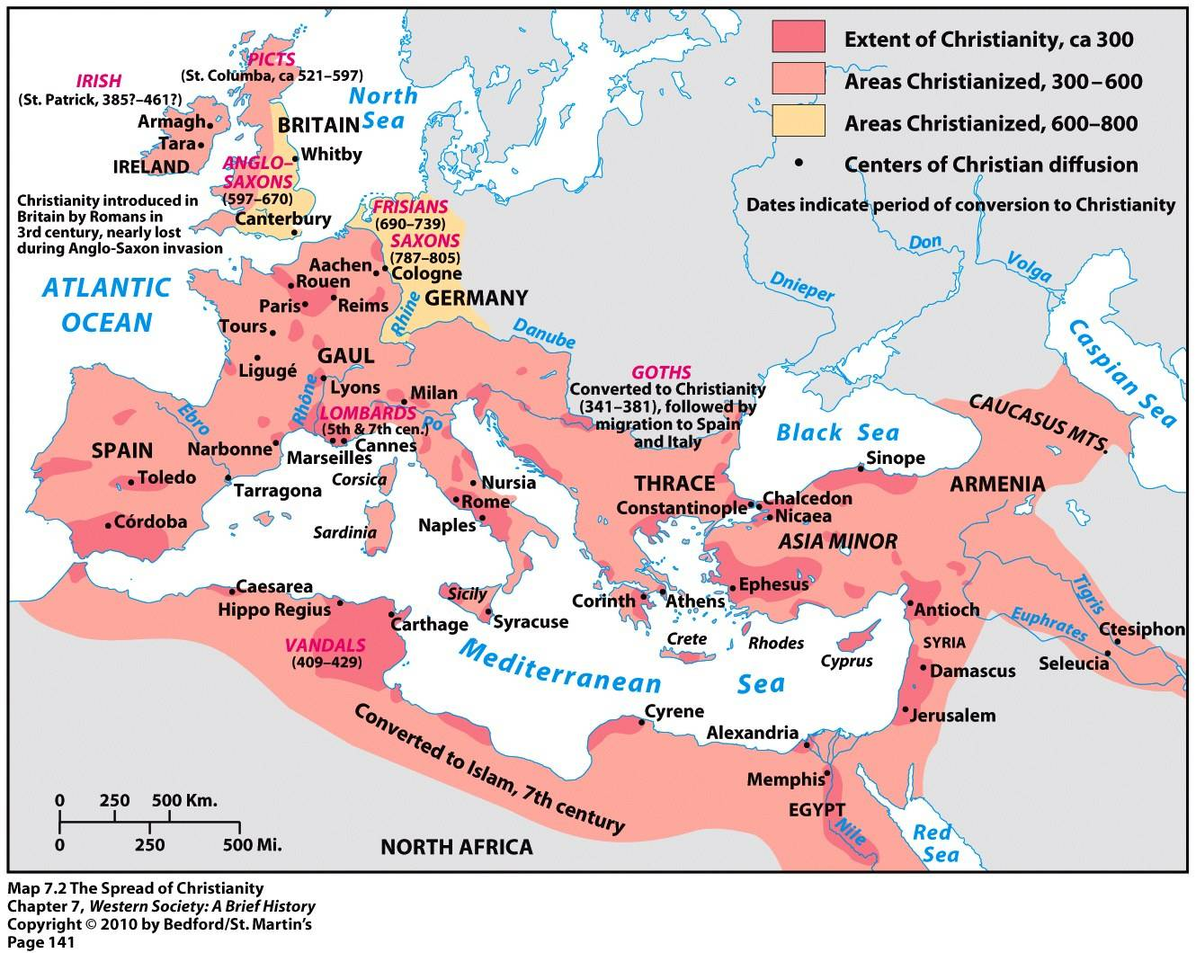 a report on the spread of christianity in the germanic lands 3 christianity also had a great demonstration of power a historian like ramsey macmullen (one of the there are two major factors that, in my opinion, contributed to the spread of christianity within the the roman peace meant the germanic invaders and other hordes were not a threat at that time.